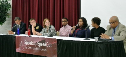 Speak Up Speak Out panel on policing and race in September 2014